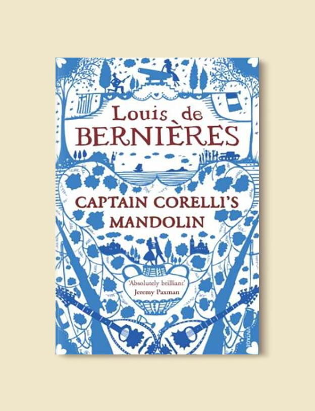 Books Set In Greece - Corelli's Mandolin by Louis de Bernières. For more books visit www.taleway.com to find books set around the world. Ideas for those who like to travel, both in life and in fiction. #books #novels #fiction #travel #greece