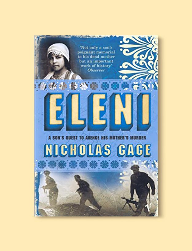 Books Set In Greece - Elena by Nicolas Gage. For more books visit www.taleway.com to find books set around the world. Ideas for those who like to travel, both in life and in fiction. #books #novels #fiction #travel #greece