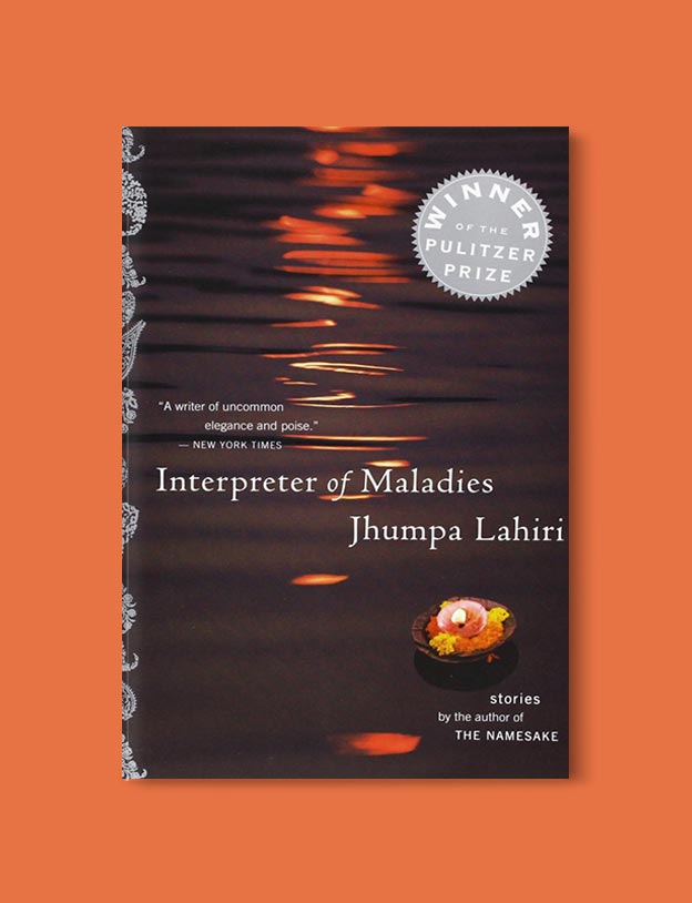 Books Set In India - Interpreter of Maladies by Jhumpa Lahiri. For more books visit www.taleway.com to find books set around the world. Ideas for those who like to travel, both in life and in fiction. #books #novels #bookworm #booklover #fiction #travel