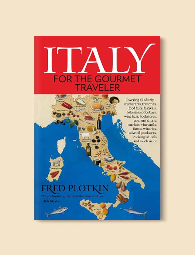 Books Set In Italy - Italy for the Gourmet Traveler by Fred Plotkin. For more books that inspire travel visit www.taleway.com to find books set around the world. italian books, books about italy, italy inspiration, italy travel, novels set in italy, italian novels, books and travel, travel reads, reading list, books around the world, books to read, books set in different countries, italy