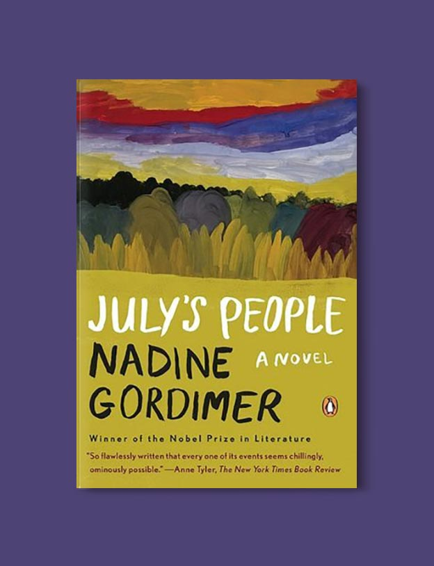 Books Set In South Africa - July's People by Nadine Gordimer. For more books that inspire travel visit www.taleway.com to find books set around the world. south african books, books about south africa, south africa inspiration, south africa travel, novels set in south africa, south african novels, books and travel, travel reads, reading list, books around the world, books to read, books set in different countries, south africa