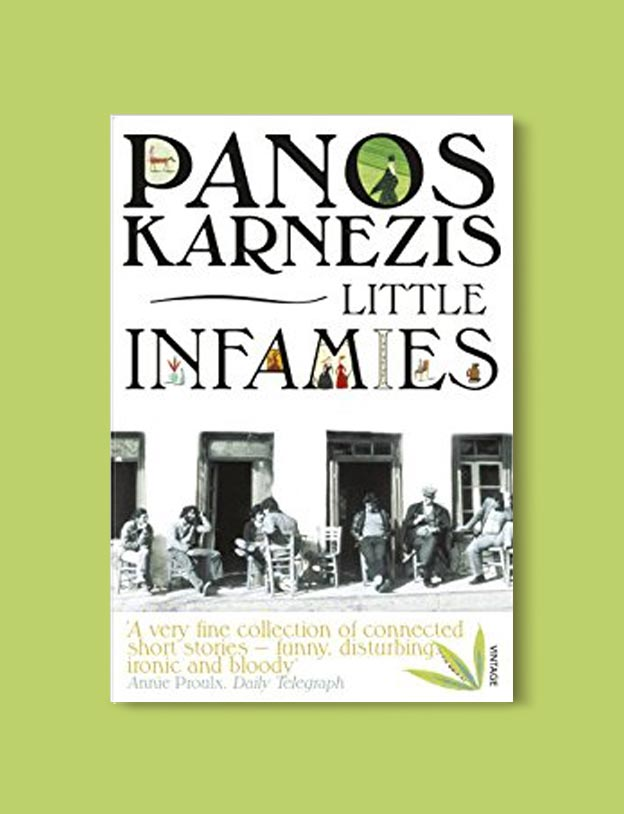 Books Set In Greece - Little Infamies by Panos Karnezis. For more books visit www.taleway.com to find books set around the world. Ideas for those who like to travel, both in life and in fiction. #books #novels #fiction #travel #greece