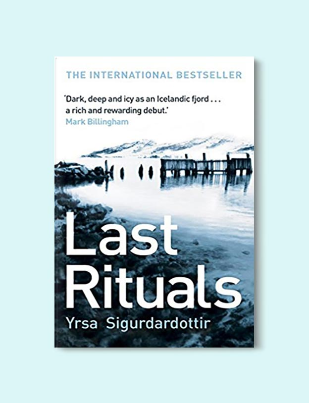 Books Set In Iceland - Last Rituals by Yrsa Sigurðardóttir. For more books visit www.taleway.com to find books set around the world. Ideas for those who like to travel, both in life and in fiction. #books #novels #fiction #iceland #travel