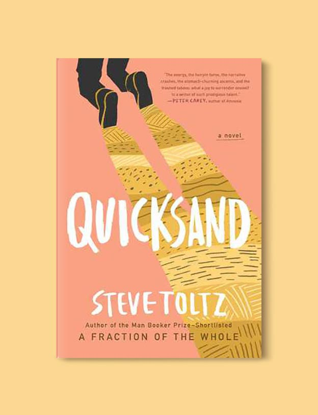 Books Set In Australia - Quicksand by Steve Toltz. For more books visit www.taleway.com to find books set around the world. Ideas for those who like to travel, both in life and in fiction. australian books, books and travel, travel reads, reading list, books around the world, books to read, books set in different countries, australia
