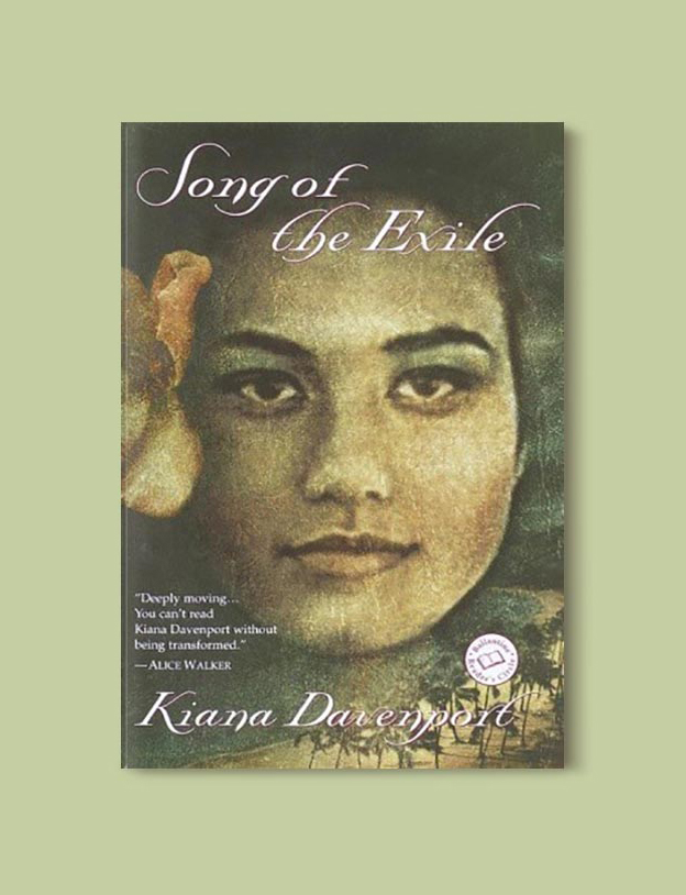Books Set In Hawaii - Song of the Exile by Kiana Davenport. For more books visit www.taleway.com to find books from around the world. Ideas for those who like to travel, both in life and in fiction. #books #novels #hawaii #travel #fiction #bookstoread #wanderlust