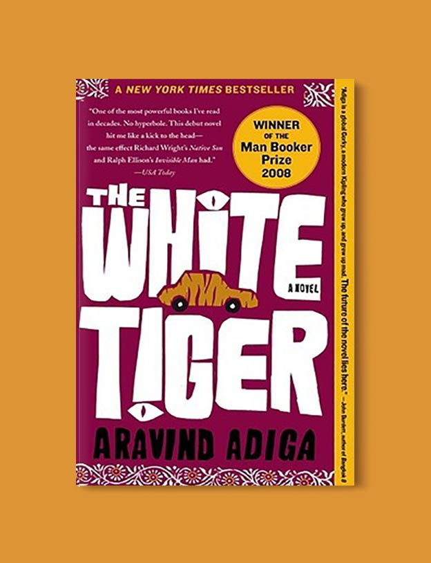 Books Set In India - The White Tiger by Aravind Adiga. For more books visit www.taleway.com to find books set around the world. Ideas for those who like to travel, both in life and in fiction. #books #novels #bookworm #booklover #fiction #travel