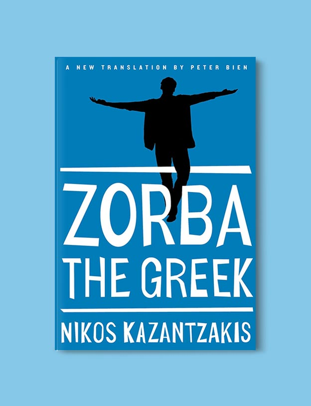 Books Set In Greece - Zorba the Greek by Nikos Kazantzakis. For more books visit www.taleway.com to find books set around the world. Ideas for those who like to travel, both in life and in fiction. #books #novels #fiction #travel #greece