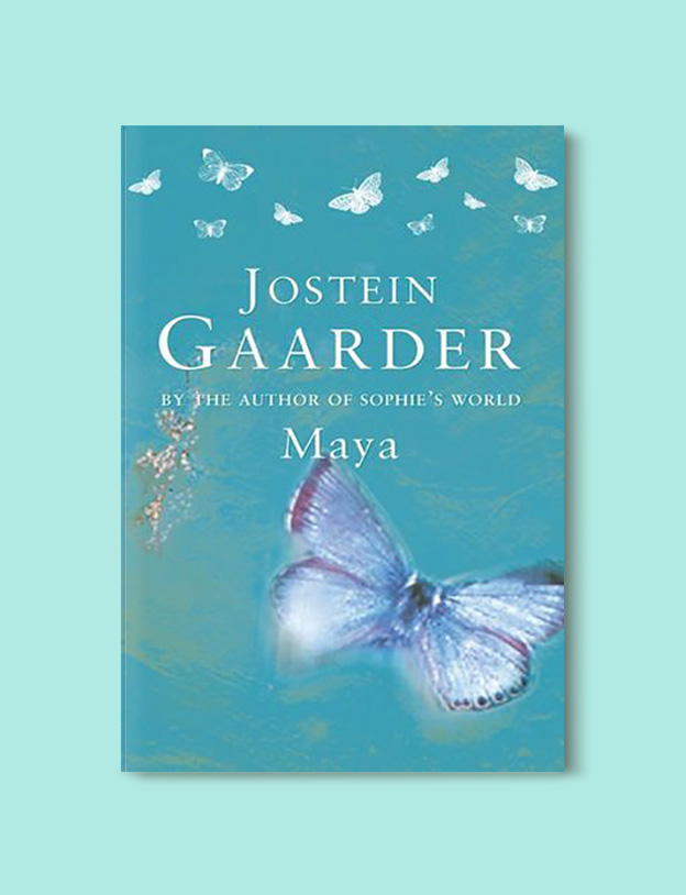 Books Set Around The World - Maya by Jostein Gaarder. For more books that inspire travel visit www.taleway.com to find books set around the world. world books, books around the world, travel inspiration, world travel, novels set around the world, world novels, books and travel, travel reads, reading list, books to read, books set in different countries, world reading challenge