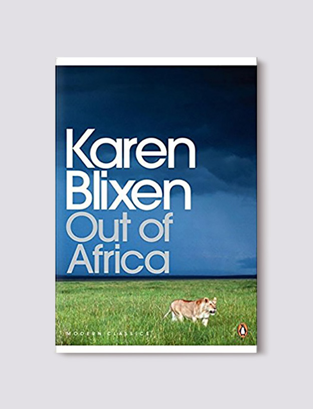 Books Set Around The World - Out of Africa by Karen Blixen. For more books that inspire travel visit www.taleway.com to find books set around the world. world books, books around the world, travel inspiration, world travel, novels set around the world, world novels, books and travel, travel reads, reading list, books to read, books set in different countries, world reading challenge