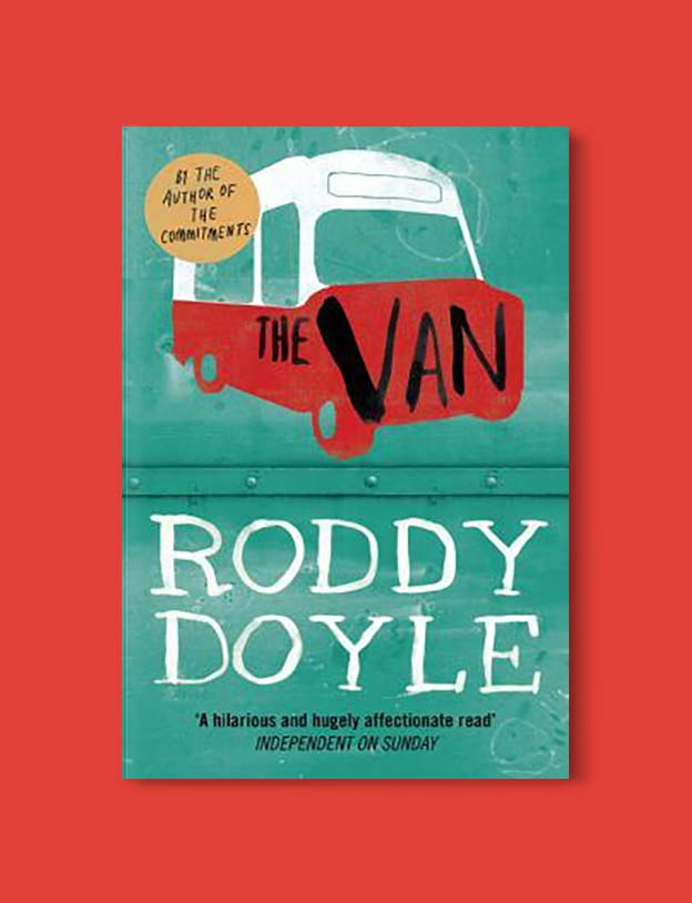 Books Set In Ireland - The Van (The Barrytown Trilogy 3/3) by Roddy Doyle. For more books that inspire travel visit www.taleway.com to find books set around the world. irish books, books about ireland, ireland inspiration, ireland travel, novels set in ireland, irish novels, books and travel, travel reads, reading list, books around the world, books to read, books set in different countries, ireland, ireland books, ireland packing list, ireland vacation, irish books novels