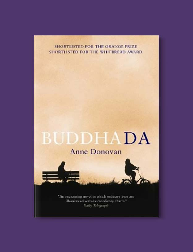 Books Set In Scotland - Buddha Da by Anne Donovan. For more books that inspire travel visit www.taleway.com to find books set around the world. scottish books, books about scotland, scotland inspiration, scotland travel, novels set in scotland, scottish novels, scotland novels, books and travel, travel reads, reading list, books around the world, books to read, books set in different countries, scotland, scottish books, scotland packing list, scotland vacation, scotland books novels