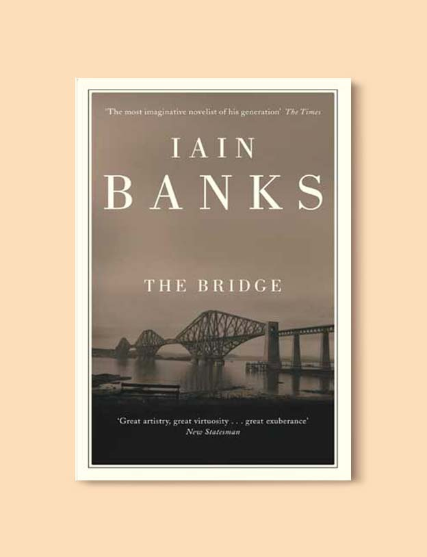 Books Set In Scotland - The Bridge by Iain Banks. For more books that inspire travel visit www.taleway.com to find books set around the world. scottish books, books about scotland, scotland inspiration, scotland travel, novels set in scotland, scottish novels, scotland novels, books and travel, travel reads, reading list, books around the world, books to read, books set in different countries, scotland, scottish books, scotland packing list, scotland vacation, scotland books novels