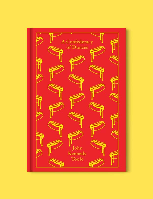Penguin Clothbound Classics - A Confederacy of Dunces by John Kennedy Toole. For books that inspire travel visit www.taleway.com to find books set around the world. penguin books, penguin classics, penguin classics list, penguin classics clothbound, clothbound classics, coralie bickford smith, classic books, classic books to read, book design, reading challenge, books and travel, travel reads, reading list, books around the world, books to read, books set in different countries