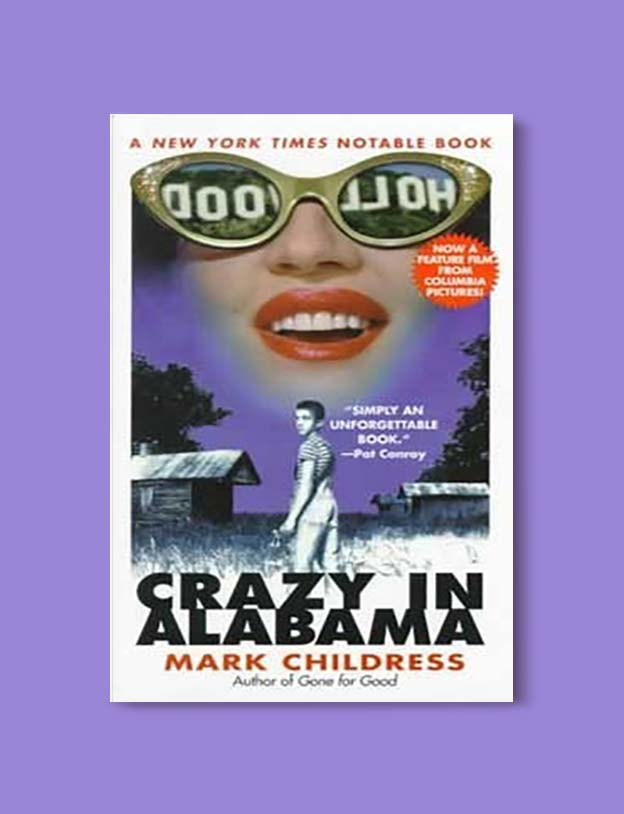 Books Set In Alabama, Crazy in Alabama by Mark Childress - Visit www.taleway.com to find books set around the world. alabama books, alabama novels, alabama travel, books from every state, books from each state, american books, usa books, us books, book challenge, alabama adventures, alabama road trip, books and travel, travel reading list, reading list, reading challenge, books to read, books around the world