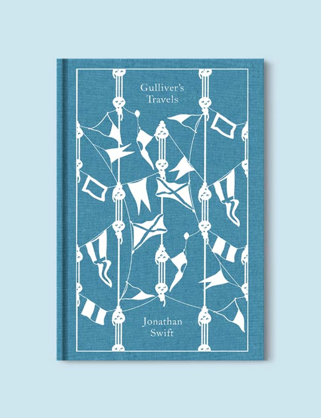 Penguin Clothbound Classics - Gulliver's Travels by Johnathan Swift. For books that inspire travel visit www.taleway.com to find books set around the world. penguin books, penguin classics, penguin classics list, penguin classics clothbound, clothbound classics, coralie bickford smith, classic books, classic books to read, book design, reading challenge, books and travel, travel reads, reading list, books around the world, books to read, books set in different countries