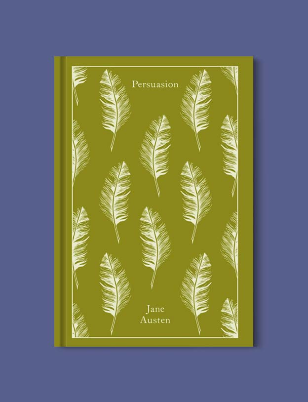 Penguin Clothbound Classics - Persuasion by Jane Austen. For books that inspire travel visit www.taleway.com to find books set around the world. penguin books, penguin classics, penguin classics list, penguin classics clothbound, clothbound classics, coralie bickford smith, classic books, classic books to read, book design, reading challenge, books and travel, travel reads, reading list, books around the world, books to read, books set in different countries