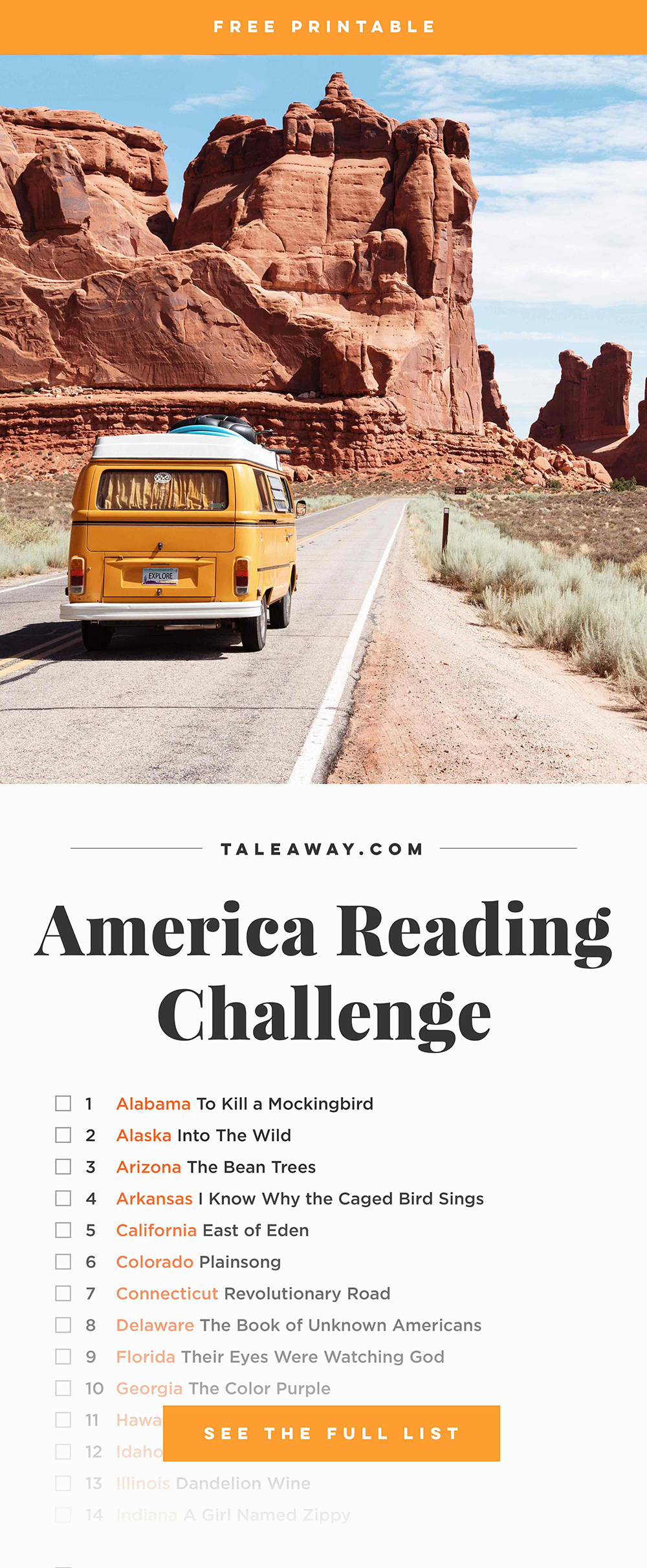 Books Set In Each State. Visit www.taleway.com to find books set around the world. america reading challenge, books set in every state, books from every state, books from each state, most popular book in each state, books about each state, books to read from every state, us road trip, usa book list, american books, american book covers, american books reading list, usa books, us books, book challenge, reading challenge, books set in america, state books series, 50 states book list