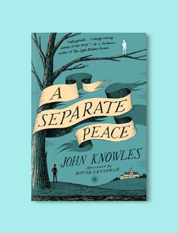 Books Set In Each State, A Separate Peace by John Knowles - Visit www.taleway.com to find books set around the world. america reading challenge, books set in every state, books from every state, books from each state, most popular book in each state, books about each state, books to read from every state, us road trip, usa book list, american books, american book covers, american books reading list, usa books, us books, book challenge, reading challenge, books set in america, state books series, 50 states book list