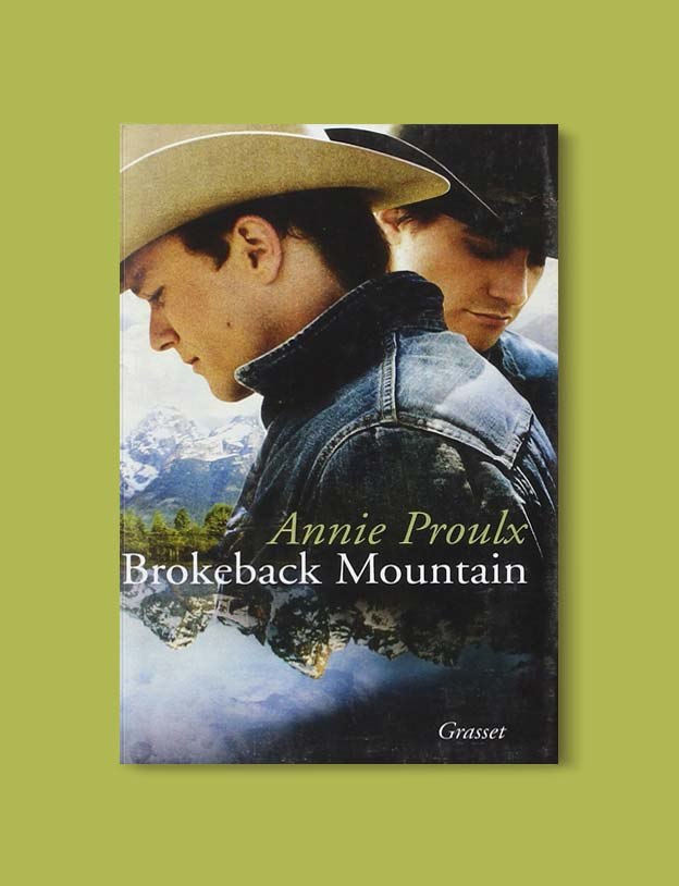 Books Set In Each State, Brokeback Mountain by Annie Proulx - Visit www.taleway.com to find books set around the world. america reading challenge, books set in every state, books from every state, books from each state, most popular book in each state, books about each state, books to read from every state, us road trip, usa book list, american books, american book covers, american books reading list, usa books, us books, book challenge, reading challenge, books set in america, state books series, 50 states book list
