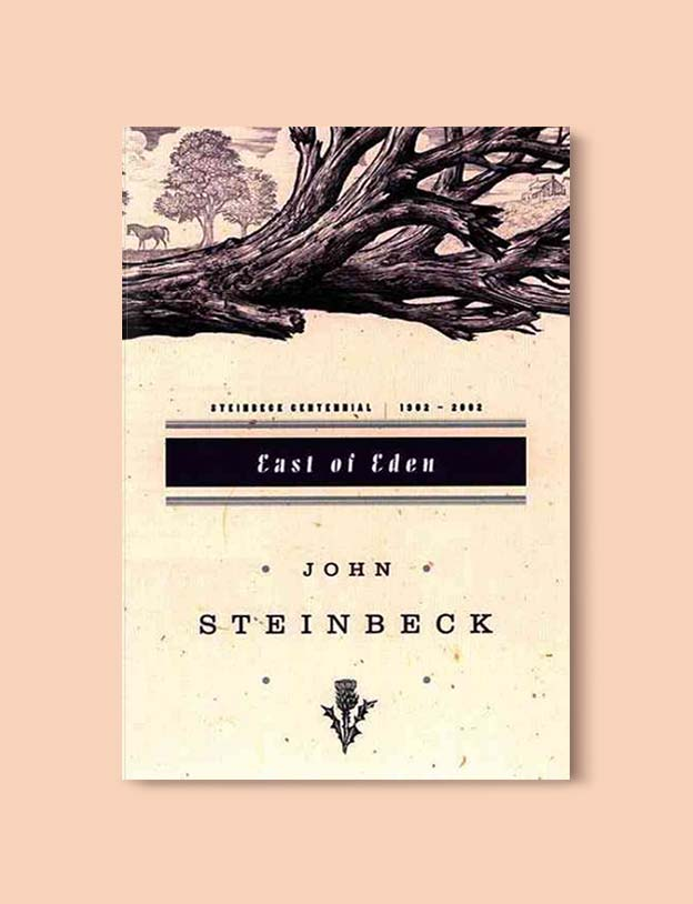 Books Set In Each State, East of Eden by John Steinbeck - Visit www.taleway.com to find books set around the world. america reading challenge, books set in every state, books from every state, books from each state, most popular book in each state, books about each state, books to read from every state, us road trip, usa book list, american books, american book covers, american books reading list, usa books, us books, book challenge, reading challenge, books set in america, state books series, 50 states book list