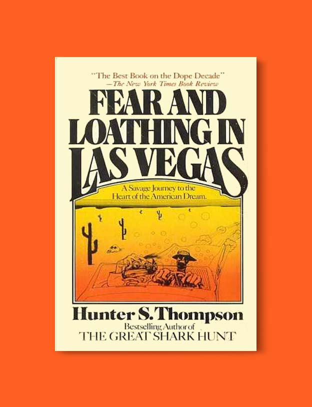Books Set In Each State, Fear and Loathing in Las Vegas by Hunter S Thompson - Visit www.taleway.com to find books set around the world. america reading challenge, books set in every state, books from every state, books from each state, most popular book in each state, books about each state, books to read from every state, us road trip, usa book list, american books, american book covers, american books reading list, usa books, us books, book challenge, reading challenge, books set in america, state books series, 50 states book list