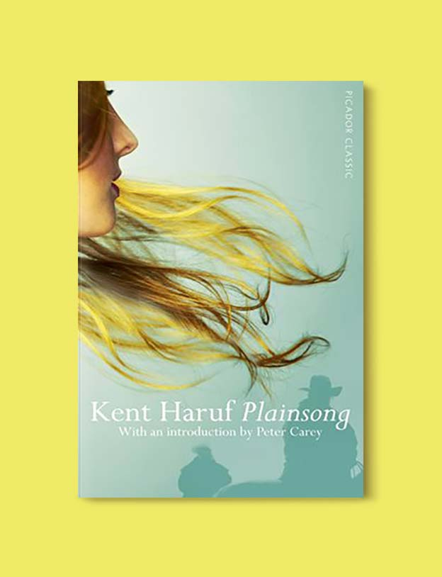 Books Set In Each State, Plainsong by Kent Haruf - Visit www.taleway.com to find books set around the world. america reading challenge, books set in every state, books from every state, books from each state, most popular book in each state, books about each state, books to read from every state, us road trip, usa book list, american books, american book covers, american books reading list, usa books, us books, book challenge, reading challenge, books set in america, state books series, 50 states book list