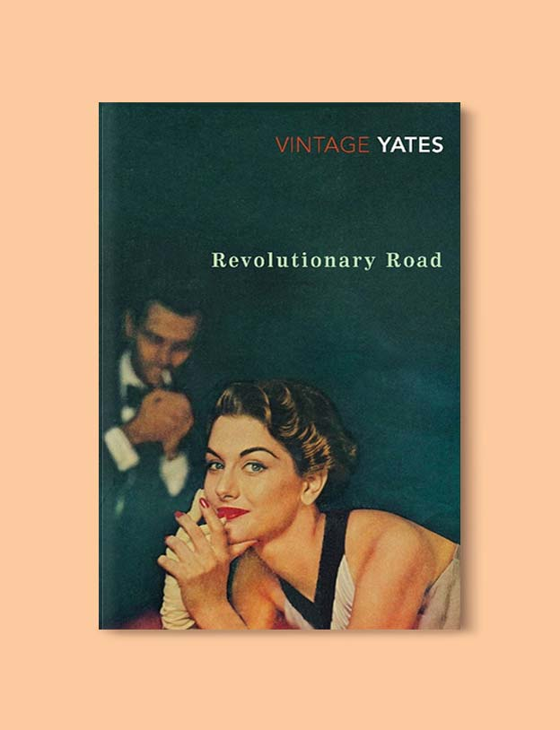 Books Set In Each State, Revolutionary Road by Richard Yates - Visit www.taleway.com to find books set around the world. america reading challenge, books set in every state, books from every state, books from each state, most popular book in each state, books about each state, books to read from every state, us road trip, usa book list, american books, american book covers, american books reading list, usa books, us books, book challenge, reading challenge, books set in america, state books series, 50 states book list