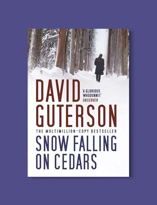 Books Set In Each State, Snow Falling On Cedars by David Guterson - Visit www.taleway.com to find books set around the world. america reading challenge, books set in every state, books from every state, books from each state, most popular book in each state, books about each state, books to read from every state, us road trip, usa book list, american books, american book covers, american books reading list, usa books, us books, book challenge, reading challenge, books set in america, state books series, 50 states book list