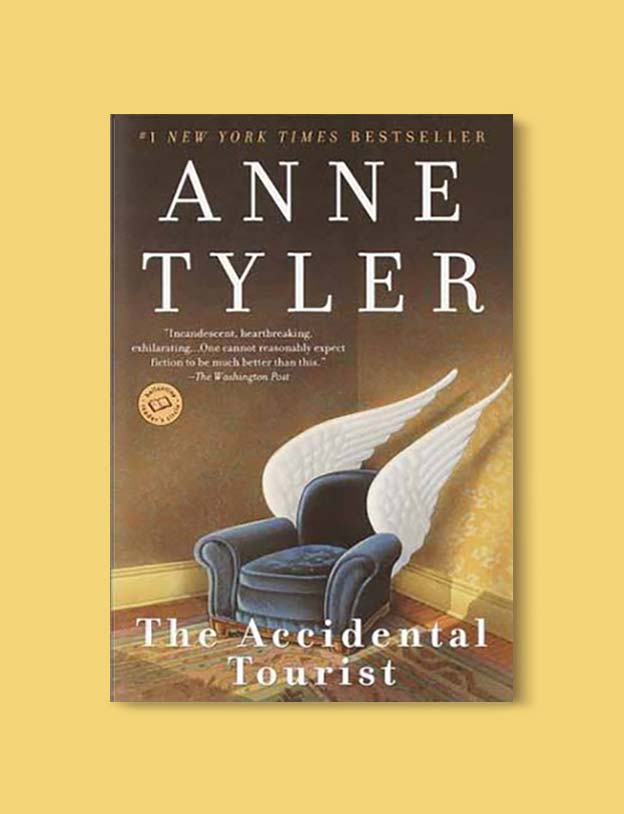 Books Set In Each State, The Accidental Tourist by Anne Tyler - Visit www.taleway.com to find books set around the world. america reading challenge, books set in every state, books from every state, books from each state, most popular book in each state, books about each state, books to read from every state, us road trip, usa book list, american books, american book covers, american books reading list, usa books, us books, book challenge, reading challenge, books set in america, state books series, 50 states book list