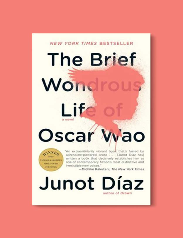 Books Set In Each State, The Brief Wondrous Life of Oscar Wao by Junot Diaz - Visit www.taleway.com to find books set around the world. america reading challenge, books set in every state, books from every state, books from each state, most popular book in each state, books about each state, books to read from every state, us road trip, usa book list, american books, american book covers, american books reading list, usa books, us books, book challenge, reading challenge, books set in america, state books series, 50 states book list