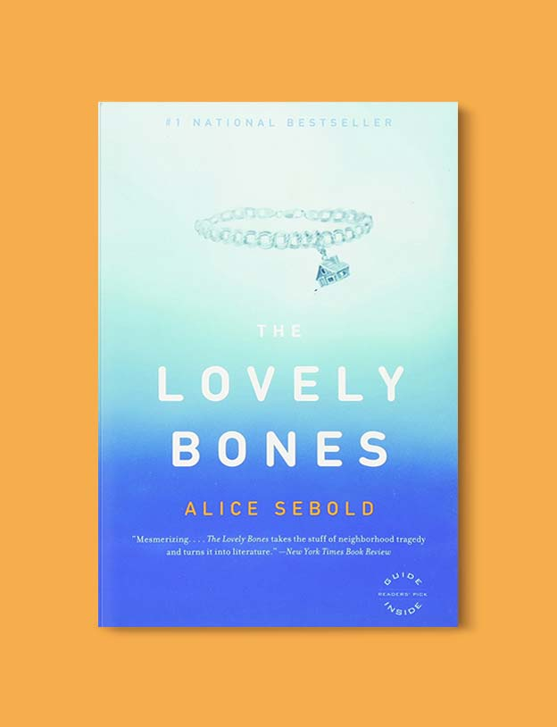 Books Set In Each State, The Lovely Bones by Alice Sebold - Visit www.taleway.com to find books set around the world. america reading challenge, books set in every state, books from every state, books from each state, most popular book in each state, books about each state, books to read from every state, us road trip, usa book list, american books, american book covers, american books reading list, usa books, us books, book challenge, reading challenge, books set in america, state books series, 50 states book list