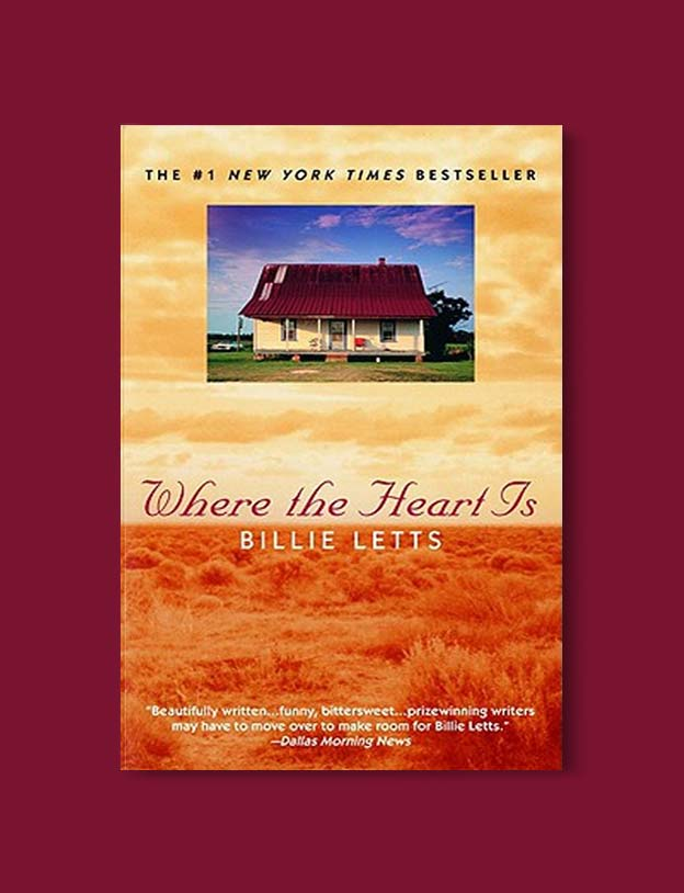 Books Set In Each State, Where The Heart Is by Billie Letts - Visit www.taleway.com to find books set around the world. america reading challenge, books set in every state, books from every state, books from each state, most popular book in each state, books about each state, books to read from every state, us road trip, usa book list, american books, american book covers, american books reading list, usa books, us books, book challenge, reading challenge, books set in america, state books series, 50 states book list
