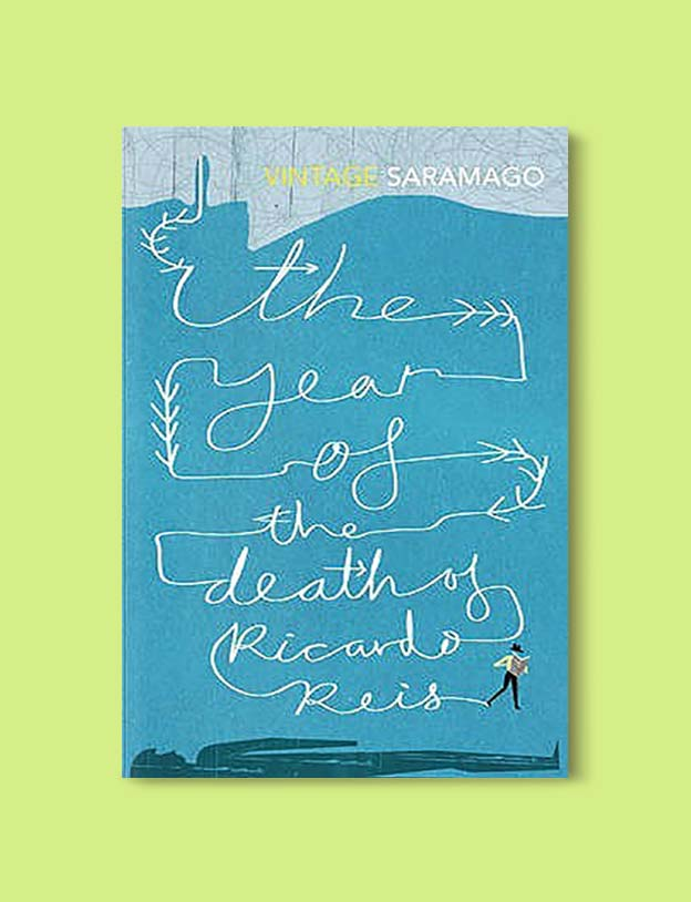 Books Set In Portugal - The Year of the Death of Ricardo Reis by José Saramago. Visit www.taleway.com for books set around the world. portuguese books, books portugal, portugal book, books about portugal, portugal inspiration, portugal travel, portugal reading, portugal reading challenge, portugal packing, books set in lisbon, lisbon book, lisbon inspiration, lisbon travel, travel reading challenge, porto travel, sintra travel, books around the world, books set in europe, portugal culture, portugal history, portugal author, books and travel, reading list, portugal lisbon, books to read, books set in different countries