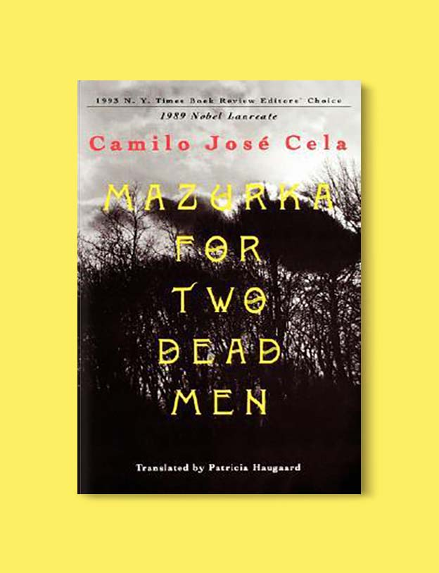 Books Set In Spain - Mazurka for Two Dead Men by Camilo José Cela. For books that inspire travel visit www.taleway.com. spanish books, books about spain, books on spain culture, novels set in spain, spanish novels, best books about spain, books on spain travel, best novels set in spain, contemporary novels set in spain, spain historical fiction, spain inspiration, spain travel, packing spain, spain reading list, travel reads, reading list, books around the world, books to read, books set in different countries