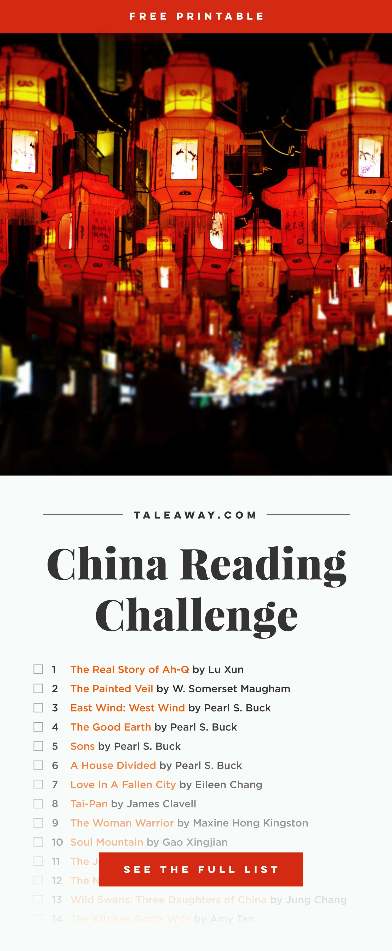 Books Set In China - For more books that inspire travel visit www.taleway.com. books set in china, books set in shanghai, books set in beijing, best books about china, chinese novels, chinese literature, chinese authors, contemporary novels set in china, best novels set in china, china travel, china packing, china books, books about chinese history, books on chinese culture, books on chinese travel