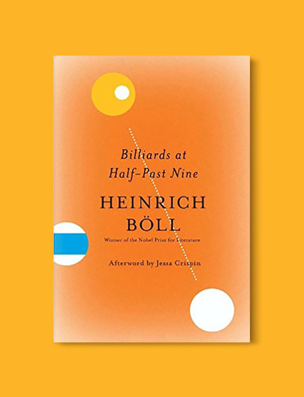 Books Set In Germany - Billiards At Half-Past Nine by Heinrich Boll. For more books that inspire travel visit www.taleway.com. german books, books about germany, germany inspiration, books germany, germany travel, novels set in germany, german novels, german reading, germany reading challenge, books set in europe, german culture, german history, books arounds the world, books to read, reading challenge, travel reads