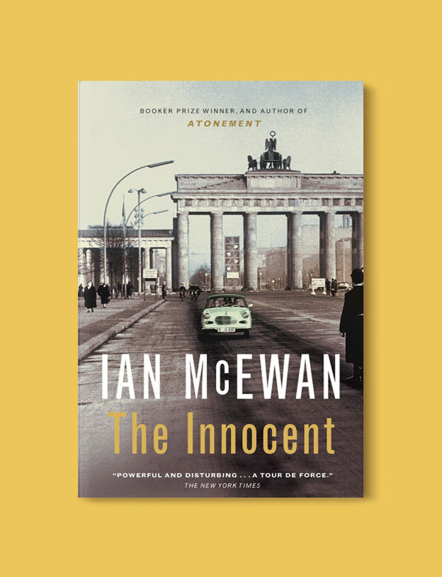 Books Set In Germany - The Innocent by Ian McEwan. For more books that inspire travel visit www.taleway.com. german books, books about germany, germany inspiration, books germany, germany travel, novels set in germany, german novels, german reading, germany reading challenge, books set in europe, german culture, german history, books arounds the world, books to read, reading challenge, travel reads