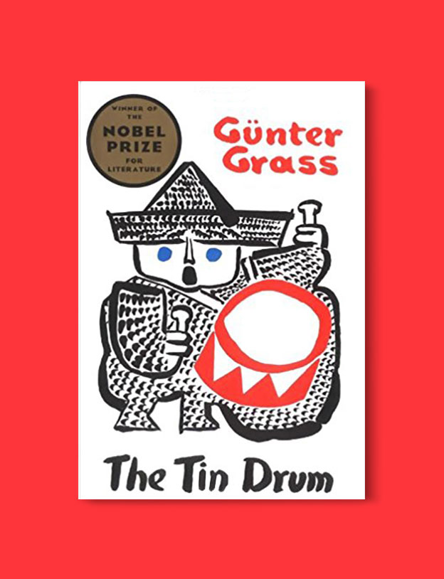 Books Set In Germany - The Tin Drum by Gunter Grass. For more books that inspire travel visit www.taleway.com. german books, books about germany, germany inspiration, books germany, germany travel, novels set in germany, german novels, german reading, germany reading challenge, books set in europe, german culture, german history, books arounds the world, books to read, reading challenge, travel reads