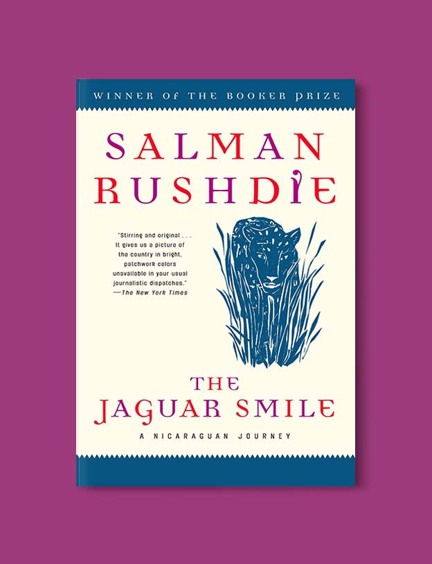 Books Set Around The World - The Jaguar Smile by Salman Rushdie. For more books that inspire travel visit www.taleway.com. world books, books around the world, travel inspiration, world travel, novels set around the world, world novels, books and travel, travel reads, reading list, books to read, books set in different countries, world reading challenge