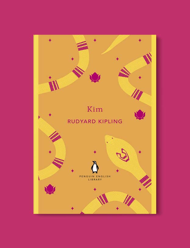 Penguin English Library - Kim by Rudyard Kipling. penguin books, penguin classics, english library books, new penguin english library, penguin library, penguin books series, english library, coralie bickford smith, classic books, classic books to read, book design, reading challenge, reading list, books to read