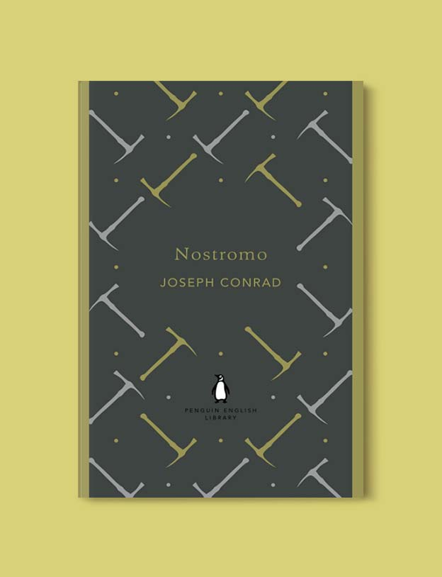 Penguin English Library - Nostromo by Joseph Conrad. penguin books, penguin classics, english library books, new penguin english library, penguin library, penguin books series, english library, coralie bickford smith, classic books, classic books to read, book design, reading challenge, reading list, books to read