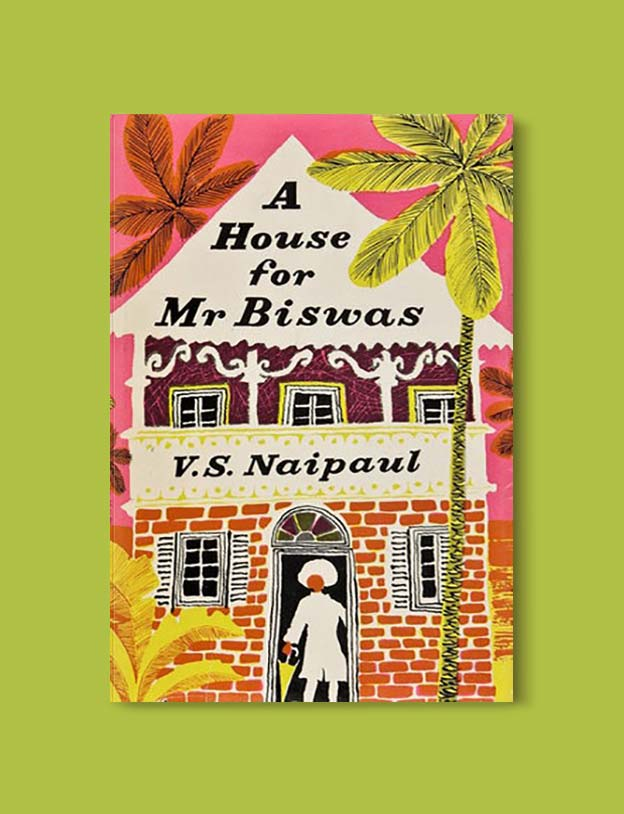 Books Set Around The World - A House For Mr Biswas by V.S. Naipaul. For more books that inspire travel visit www.taleway.com. world books, books around the world, travel inspiration, world travel, novels set around the world, world novels, books and travel, travel reads, reading list, books to read, books set in different countries, world reading challenge
