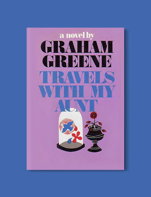 Books Set in Turkey - Travels with My Aunt by Graham Greene. For more books that inspire travel visit www.taleaway.com - turkish books, turkish novels, turkish book cover, turkish authors, turkey books, istanbul book, turkey inspiration, books and travel, travel reads, reading list, books to read, books set in different countries, turkish books in english, turkey reading list, turkey reading challenge