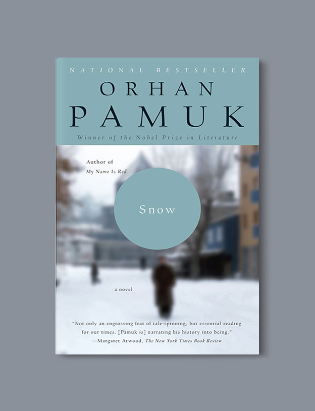 Books Set in Turkey - Snow by Orhan Pamuk. For more books that inspire travel visit www.taleaway.com - turkish books, turkish novels, turkish book cover, turkish authors, turkey books, istanbul book, turkey inspiration, books and travel, travel reads, reading list, books to read, books set in different countries, turkish books in english, turkey reading list, turkey reading challenge