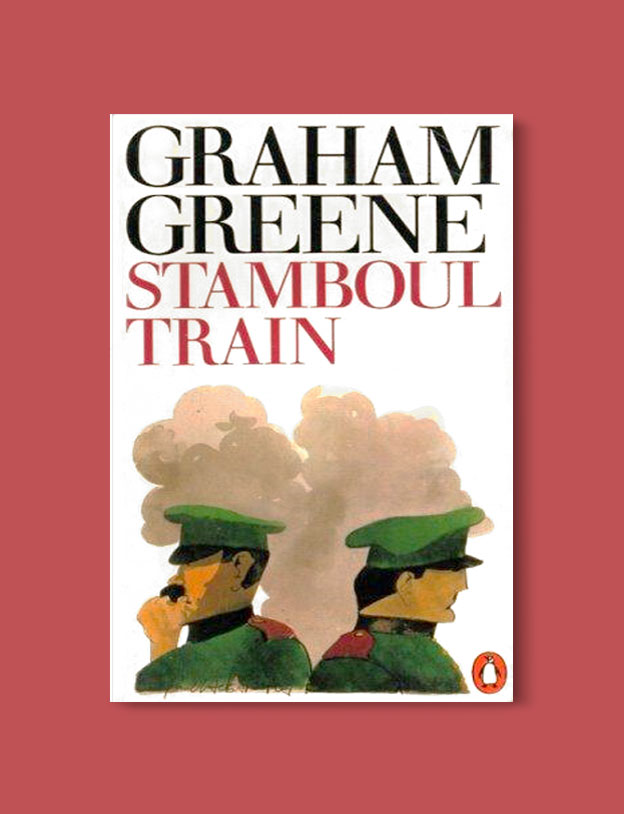 Books Set in Turkey - Stamboul Train by Graham Greene. For more books that inspire travel visit www.taleaway.com - turkish books, turkish novels, turkish book cover, turkish authors, turkey books, istanbul book, turkey inspiration, books and travel, travel reads, reading list, books to read, books set in different countries, turkish books in english, turkey reading list, turkey reading challenge