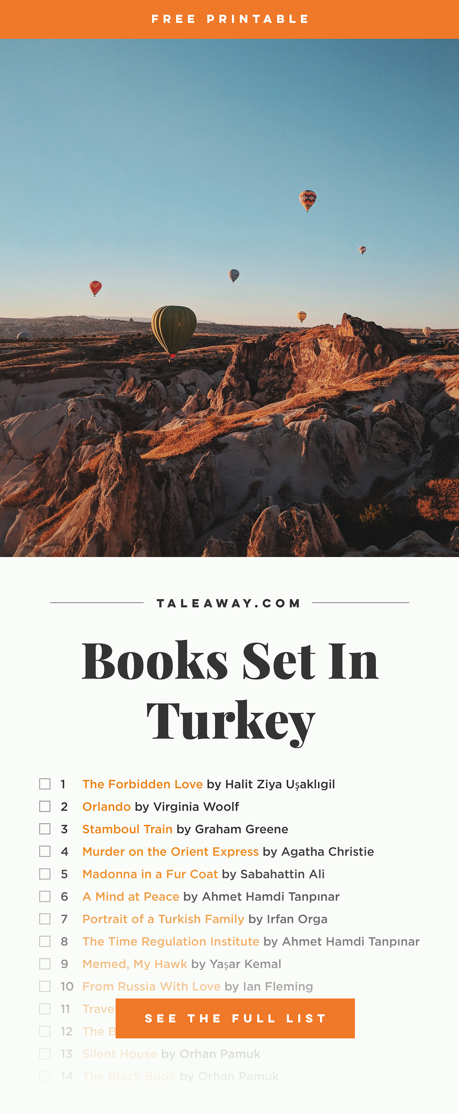 Books Set in Turkey - For more books that inspire travel visit www.taleaway.com - turkish books, turkish novels, turkish book cover, turkish authors, turkey books, istanbul book, turkey inspiration, books and travel, travel reads, reading list, books to read, books set in different countries, turkish books in english, turkey reading list, turkey reading challenge