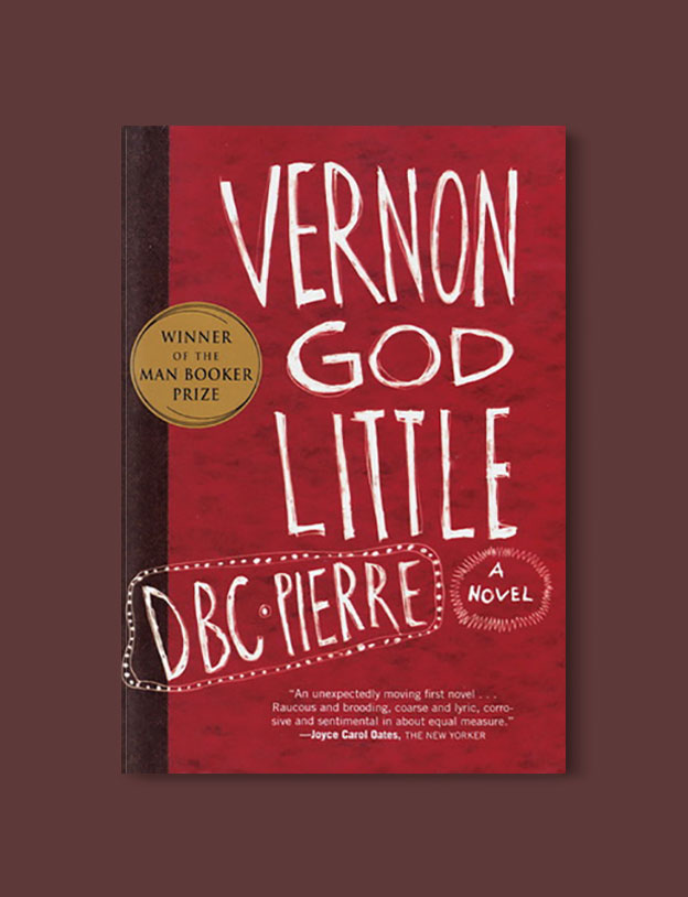 Booker Prize Winner 2003 - Vernon God Little by DBC Pierre - Visit www.taleway.com to find books set around the world. booker prize, booker prize winners, booker prize winners list, booker prize winners list pdf, man booker authors, man booker prize, man booker prize for fiction, booker prize for fiction, man booker prize winners, man booker prize novels, booker prize books, booker prize winners, reading list, book awards, booker reading challenge, literary awards, booker shortlists, booker longlists