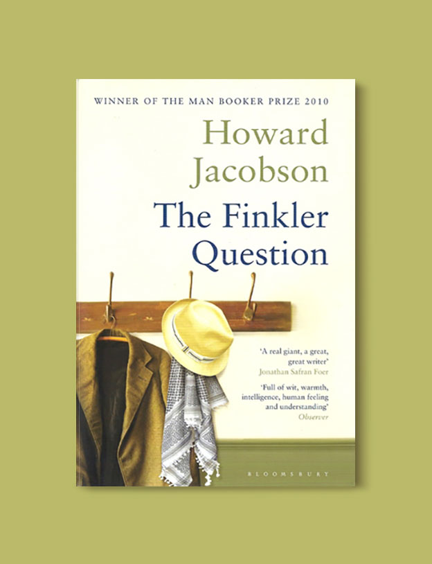 Booker Prize Winner 2010 - The Finkler Question by Howard Jacobson - Visit www.taleway.com to find books set around the world. booker prize, booker prize winners, booker prize winners list, booker prize winners list pdf, man booker authors, man booker prize, man booker prize for fiction, booker prize for fiction, man booker prize winners, man booker prize novels, booker prize books, booker prize winners, reading list, book awards, booker reading challenge, literary awards, booker shortlists, booker longlists