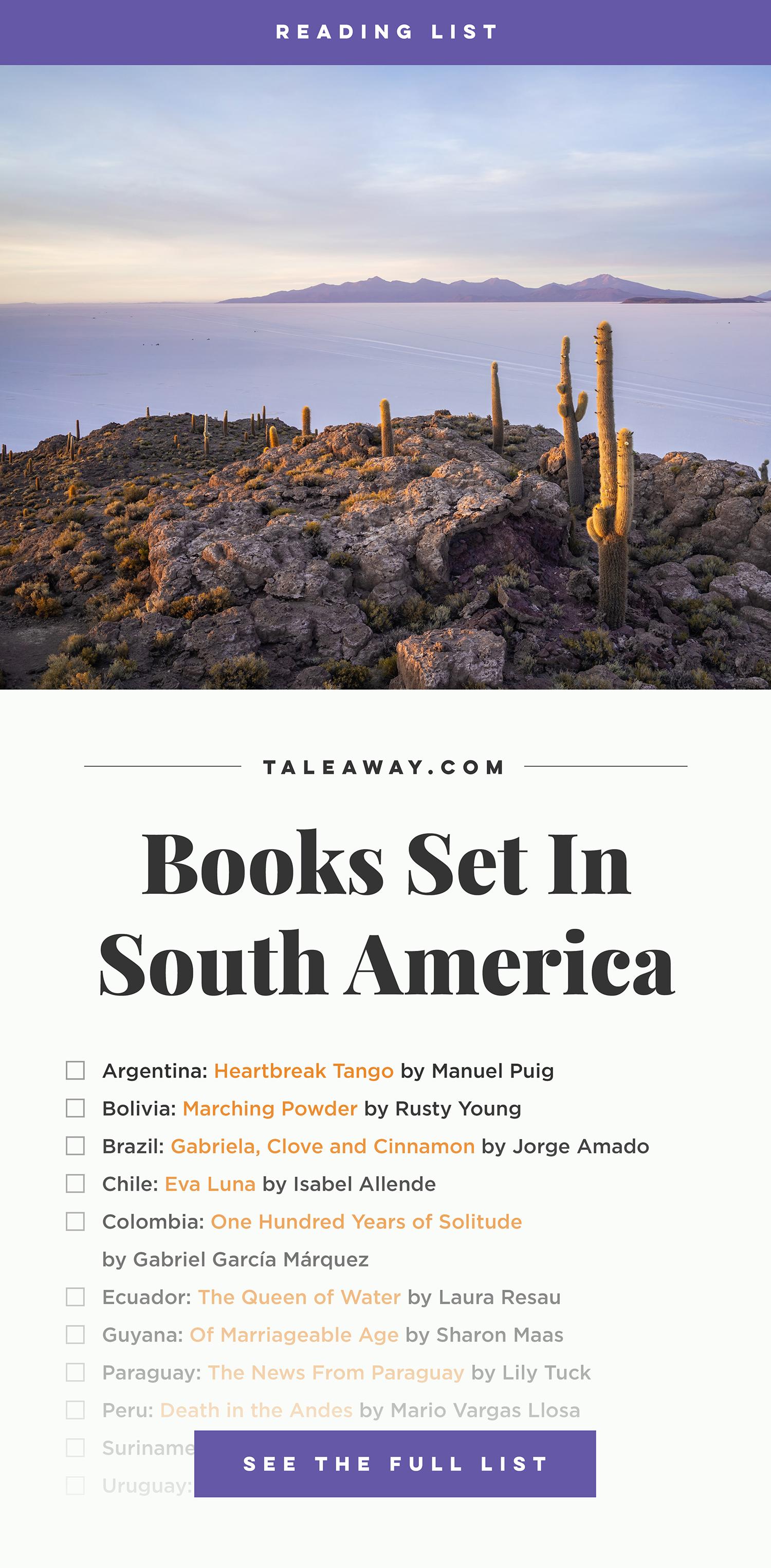 Books Set in South America. south america books, south america novels, south america literature, south america fiction, south american authors, best books set in south america, south american books, popular books set in south america, books about south america, south america reading challenge, south america reading list, south america travel, south america history, south america travel books, south america packing, south america books to read, books to read before going to south america, novels set in south america, books to read about south america