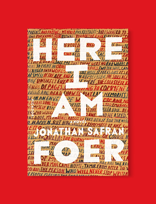 Best Book Covers 2016, Here I Am by Jonathan Safran Foer - book covers, book covers 2016, book design, best book covers, best book design, cover design, best covers, book cover design, book designers, design inspiration, cover design inspiration, book cover ideas, book design ideas, cover design ideas, book typography, book cover typography, book cover illustration, book cover design ideas